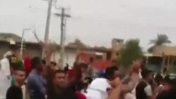 صحنهای از راهپیمایی در اهواز. منبع: رسانههای اجتماعی