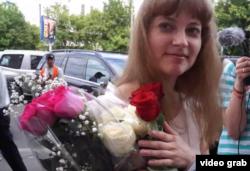 Татьяна Полихович в день свадьбы, 13 июня 2013 года