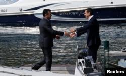Nënshkrimi i marrëveshjes mes presidentit Zaev dhe Tsipras, 17 qershor