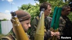 Шығыс Украинадағы ресейшіл сепаратистер.
