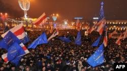 Акция протеста против итогов президентских выборов в Минске