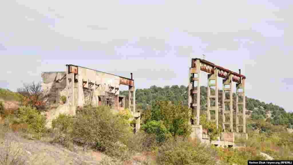 Уцілілі конструкції фабрики за десятиліття заросли деревами