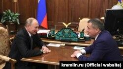 Владимир Путин и Валерий Лимарнко