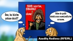 Azeri Campaign Poster: Vote For Me And I Will Be Your Shepherd (RFE/RL Azerbaijani Service)