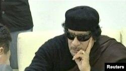 Либискиот лидер Моамер Гадафи
