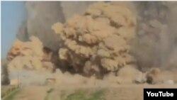 لقطة من فيديو عن تدمير آثار نمرود