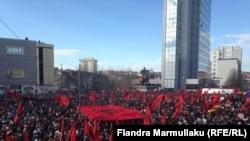 Pamje nga protestat e opozitës