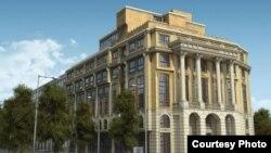 Идејно решение за изгледот на фасадата на зградата на Пелагонија.