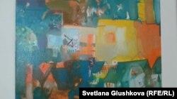Одна их картин в Музее современного искусства. Астана, 3 августа 2014 года.