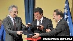 Mirko Šarović, Nihat Zejbekčiji i Rasim Ljajić