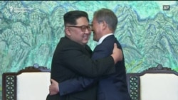 Korean Leaders Embrace At Historic Summit