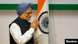 Հնդկաստանի վարչապետ Մանմոհան Սինգհը մամուլի ասուլիսից առաջ, 3-ը հունվարի, 2014