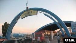 Кыргыз-казак чегиндеги Казакстандын Кордой өткөрмө бекети, 2009-жылдын 22-июлу.