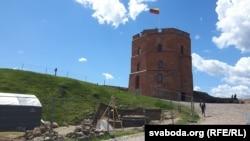Вежа Гедыміна на аднайменнай гары ў Вільні