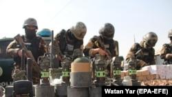 Arme capturate de trupele afgane de securitate în provincia Helmand, 18 februarie 2021