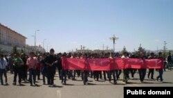 Акции протеста в китайском автономном районе Внутренняя Монголия. Май 2011 года.