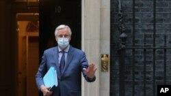 Michel Barnier la 10 Downing Street, sediul prim ministrului britanic
