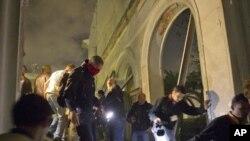 نمایی از حملات روز سه شنبه نیروهای ناتو به طرابلس