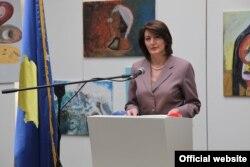 Former Kosovar President Atifete Jahjaga (file photo)