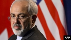 Iranian Foreign Minister Mohammad Javad Zarif looks on during the announcement of a framework nuclear agreement in Lausanne on April 2.