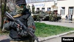 Украинадағы ресейшіл сепаратист. (Көрнекі сурет)