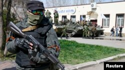 Украинадағы ресейшіл сепаратистер. (Көрнек ісурет)