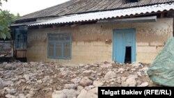 Пострадавший от селевого потока айылный аймак Кара-Дарыя, 21 июля 2021 г.