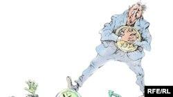 """Россияда тартылган шакаба сүрөттөрдүн бири """"Долларды тапшырабыз!"""" деп аталат."""