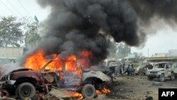 Pamje nga eksplodimi i makinës - bombë në Jamrud