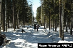 """Парк в центре """"нового"""" Усть-Илимска"""