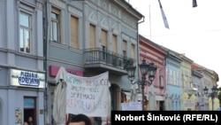 Sa protesta u Novom Sadu, 23. april 2017.
