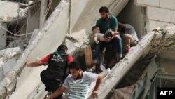 Пасьля чарговага паветранага ўдару па раёне Алепа