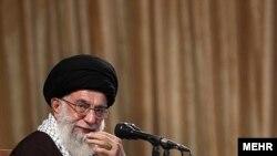 آیت الله علی خامنه ای، رهبر جمهوری اسلامی.