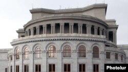 Armenia - National Opera building in Liberty Square in Yerevan, June, 2010