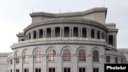 National Opera building on Liberty Square in Yerevan