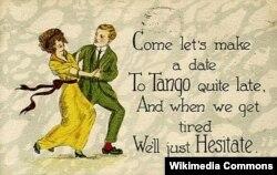 Танго бийине арналган открытка. 1919-жыл.