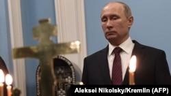 Президент Російської Федерації Володимир Путін відвідує Новоєрусалимський православний монастир за межами міста Істра, близько 70 км від Москви, 15 листопада 2017 року