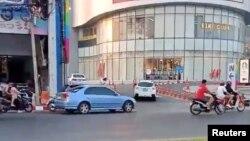 Накхонратчасима қаласындағы шабуылға ұшыраған сауда орталығы. Таиланд, 8 ақпан 2020 жыл.