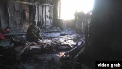 Место гибели сепаратиста «Гиви». Донецк, 8 февраля 2017 года
