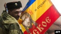 Павло Дрьомов, ватажок «казаків», які контролюють Стаханов і Первомайськ на Луганщині