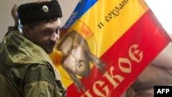 Павло Дрьомов, сепаратист і «отаман донських казаків», вересень 2014 року