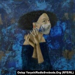 Картина художника Бобура Исмаилова, посвященная пандемии коронавируса.