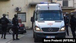 Montenegrin police brought the detainees to the Special Prosecutor's Office in Podgorica for questioning on April 21.