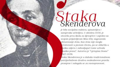 """""""Staka Skenderova (na plakatu) je nosila mušku odjeću kako bi je ozbiljnije shvatili"""", ističe Maša Durkalić."""