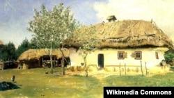Робота українського художника Іллі Рєпіна (Ріпина) «Українська хата» (1880 рік) у Національному музеї «Київська картинна галерея»