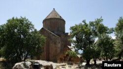 The Church of the Holy Cross on Akhtamar Island on Lake Van (file photo)