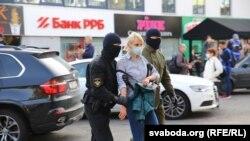 Разгон жаночага маршу ў Менску.