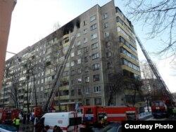 Дом на вуліцы Пляханава пасьля выбуху