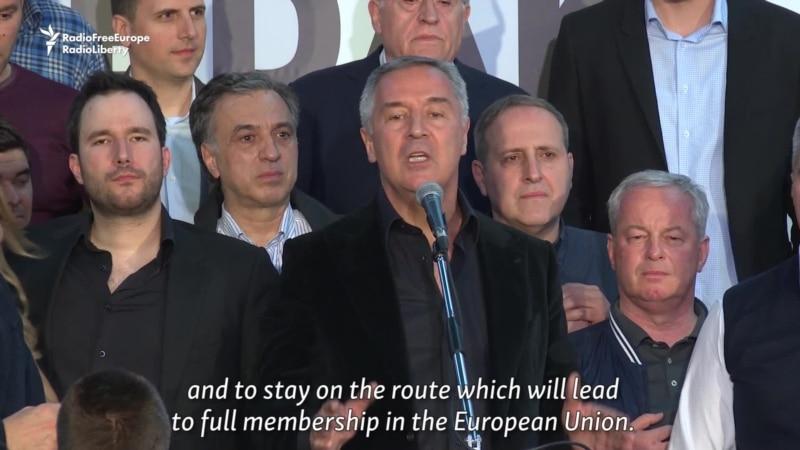 Djukanovic Celebrates Election Victory In Montenegro