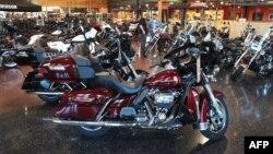 Мотоцикл Harley-Davidson в магазине в городе Кеноша, штат Висконсин, 1 июня 2018 года.